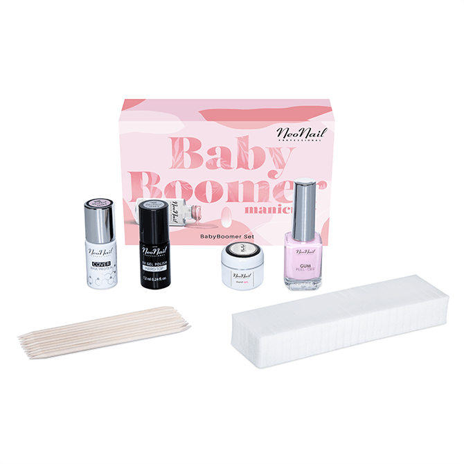Kit de manicura semipermanente - Baby Boomer Set